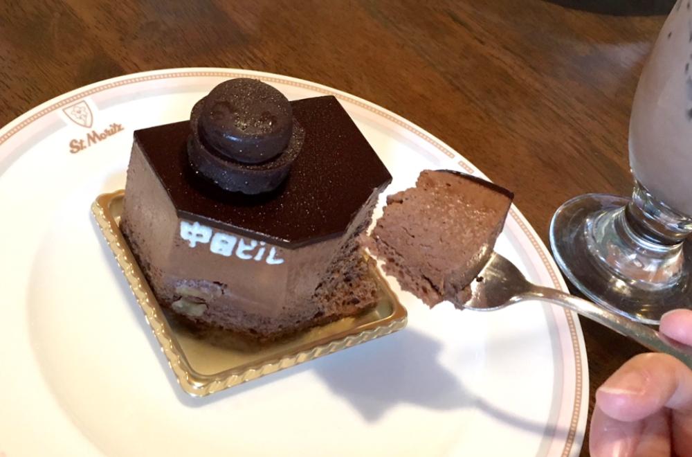 サンモリッツ 濃厚生チョコムース 中日ビル